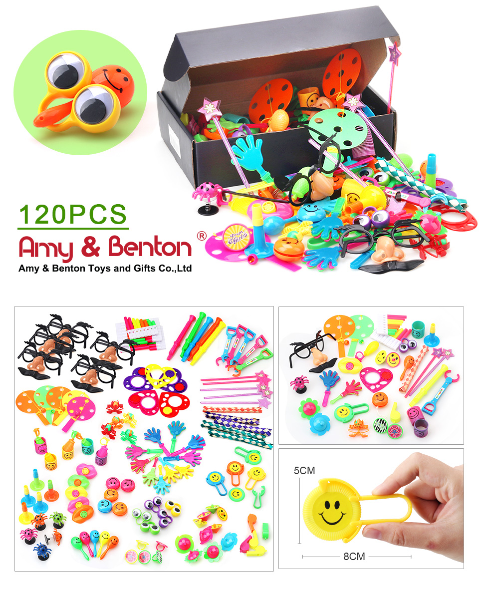 Carnival Toy Box Pink: Amazon.com: Amy & Benton 120PCS Carnival Prizes For Kids