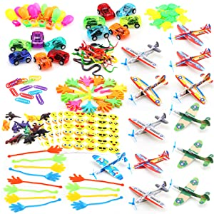 Amy&Benton 120PCS Prize Box Toys for Classroom Pinata Filler Toys for Kids Birthday Party Favors Assorted Carnival Prizes for Boys and Girls Treasure ...