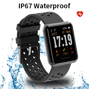 KOSPET Fitness Tracker, Smart Watch with Heart Rate Monitor, Waterproof IP67 Activity Tracker with Step Counter,Calorie Counter, Call & SMS Pedometer ...