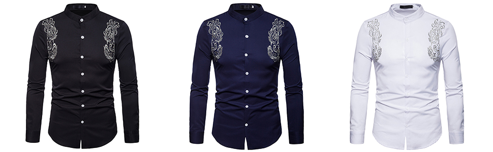 6fd31b0d75b9 WHATLEES Mens Long Sleeve Extra Long Design Dress Shirt at Amazon ...