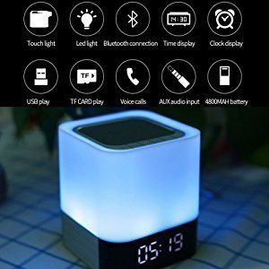 Bedside Lamp with Bluetooth Speaker