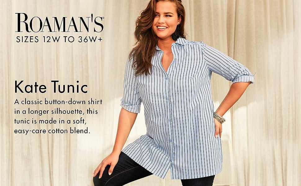 1703804955 Roamans Women s Plus Size Kate Tunic at Amazon Women s Clothing store