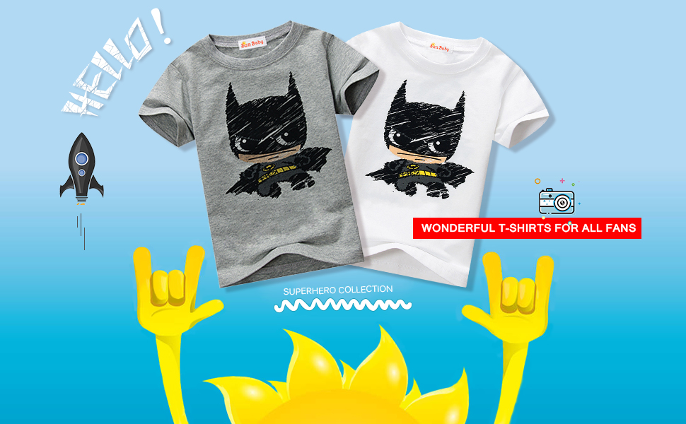85fb77cd Amazon.com: Toddler T-shirt for boys Graphic Short Sleeve Cotton Tee ...