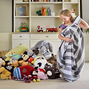 Creative QT Stuffed Animal Storage Bean Bags Are Made Of Premium Cotton  Canvas That Is Soft, Yet Durable, And Is Machine Washable.