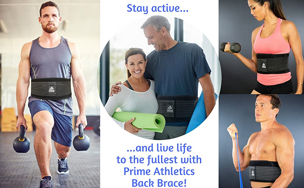 Back Brace Prime Athletics Pain Relief Lower Lumbar Support Belt sciatica scoliosis spasms men women