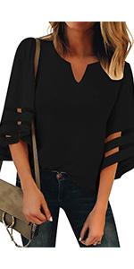 v neck blouses