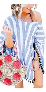 e3c19232fb Tassel Swimsuit Cover Up · Floral Print Chiffon Cardigan · Tassel Striped Cover  Up · Pom Pom Bathing Suit · 2 Piece Bandeau Bikini · 2 Pieces Bathing Suits