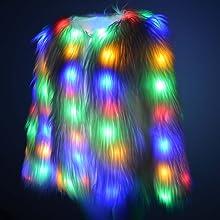 LED faux fur coat
