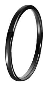 2mm Black Tungsten Ring