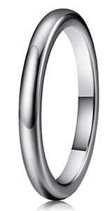 2mm tungsten wedding ring