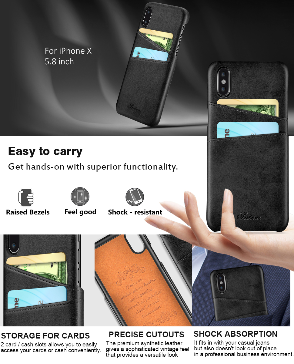 iphone x case iphone 10 case ansiwee wallet. Black Bedroom Furniture Sets. Home Design Ideas