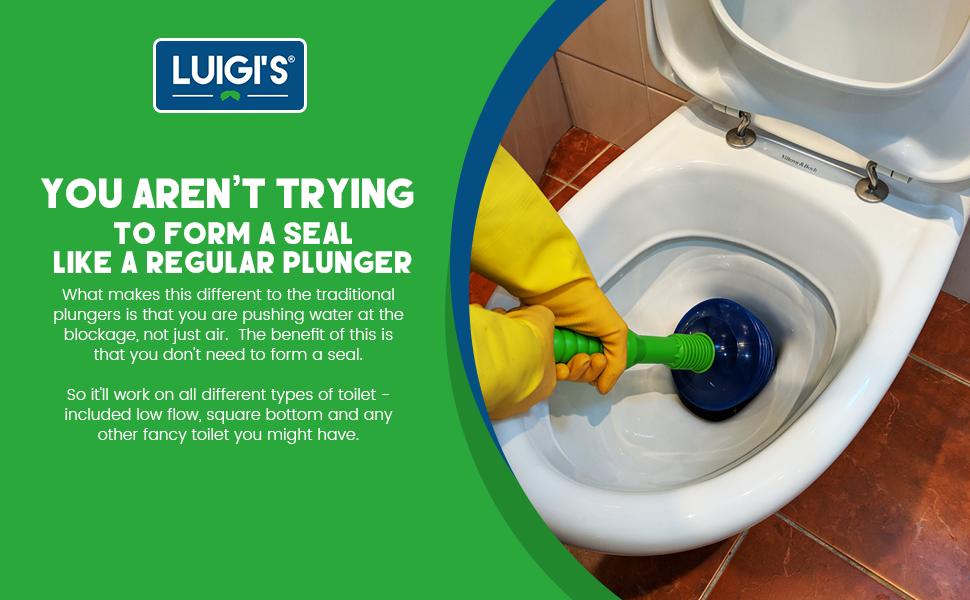 Amazon.com: Luigi\'s - The Worlds Best Toilet Plunger : Big, Bad ...