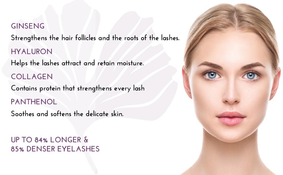 top lash pro eyelash growth serum ginseng hyaluron collagen panthenol