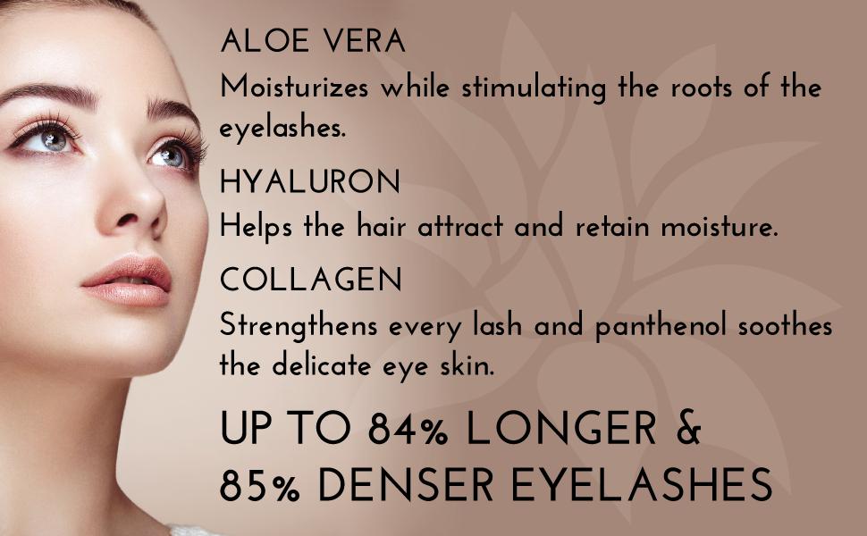 superb eyelash growth serum aloe vera hyaluron collagen