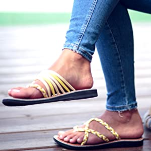 f91ef748ea4f90 Plaka Sandals are available in four different models  Palm Leaf and  Seashell