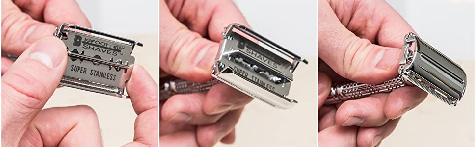 One Blade Razors with No Moving Parts Entire Razor Disassembles Easy Cleaning Open Single Replace