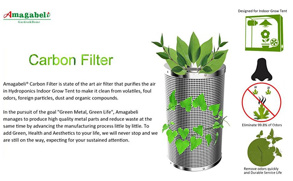 Amazon Com Amagabeli 4 Inch Carbon Filter Odor Control 4
