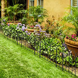 A Perfect Decorative Fencing:Flexible Enough For Any Shape You Would Like  For Your Garden.