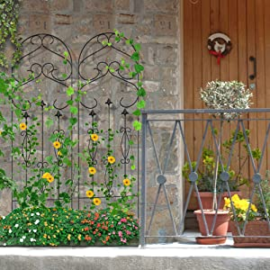 The Metal Garden Trellis Can Be Used Along The Courtyard Wall To Provide  Support For Climbing Roses While Adding Height And Variety To Your Lovely  Garden.