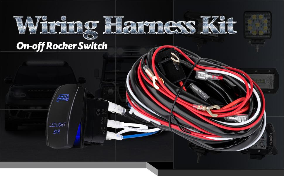 Peachy Amazon Com Liteway One To Two Universal Led Light Bar Wiring Wiring Database Gramgelartorg