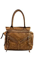 VIOLET RAY SPLIT SEAM SIDE ZIP SATCHEL BLACK  Handbags  Amazon.com 967348cc85a3f