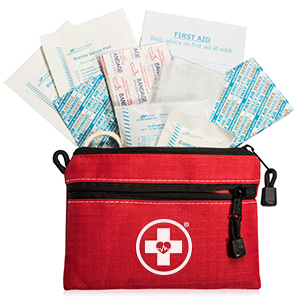 first aid bag with items
