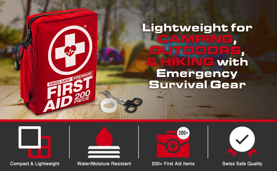 Lighweight for Camping, Outdoors, Hiking with Emergency Survival Gear