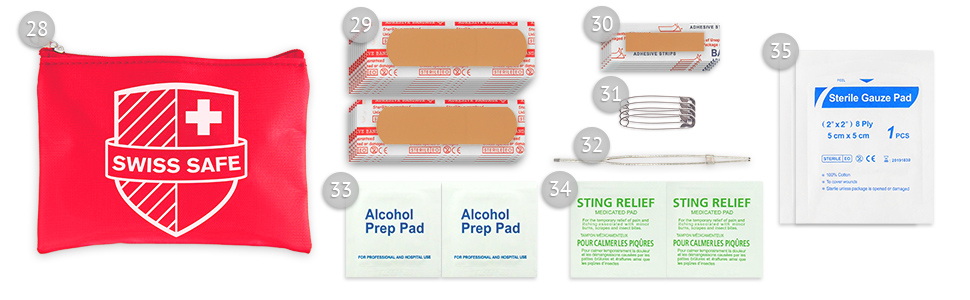 First Aid Mini-Kit Included Items