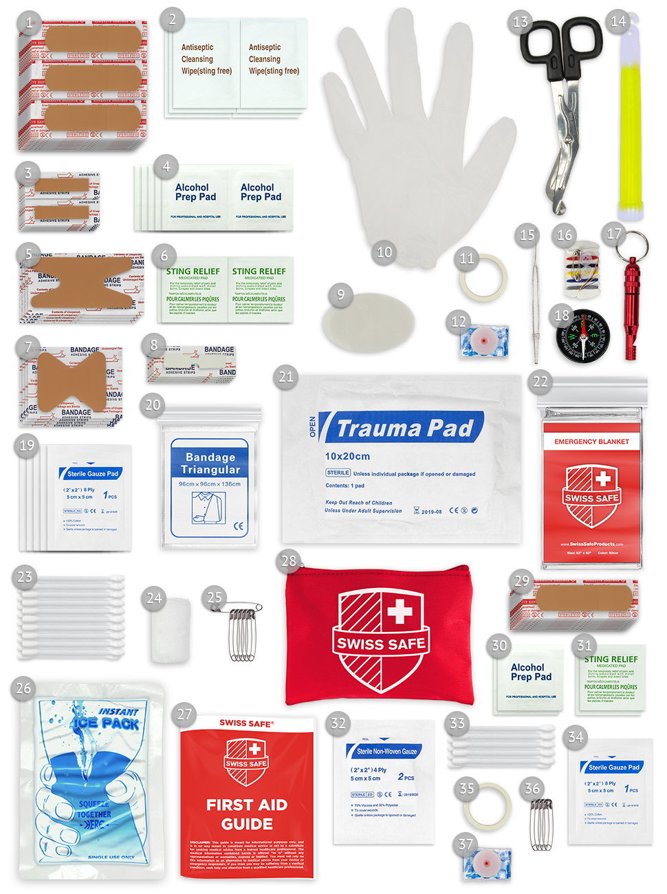 Amazon.com : Swiss Safe 2-in-1 First Aid Kit (120 Piece