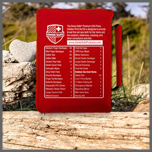 Back side of First Aid Kit