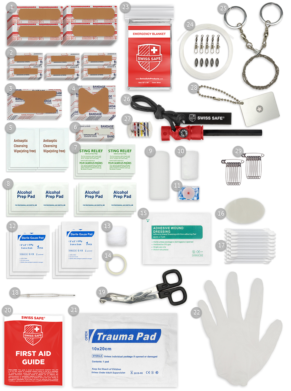 First Aid Kit Outdoor and SurvivalItems
