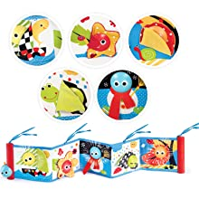 baby book Multiple textures colors Battery operated first soft toy book with lights music kids child