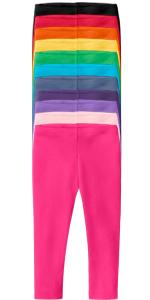 Girls Soft Stretch 100% Cotton Capri Legging