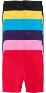 Girls Soft 100% Cotton Bike Shorts
