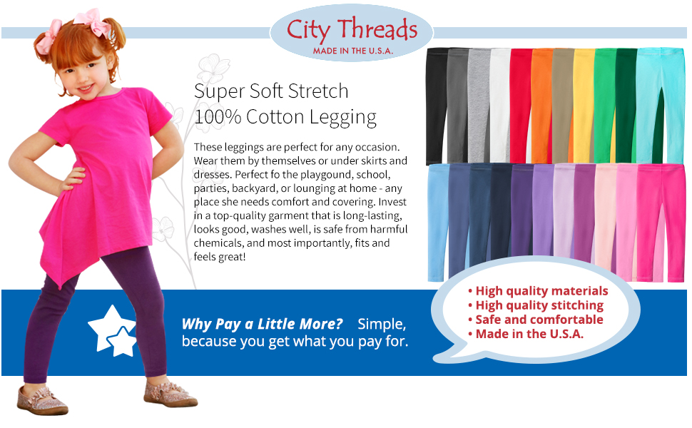 super soft stretch cotton legging colors