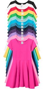 Girls Soft 100% Cotton Twirly Dress