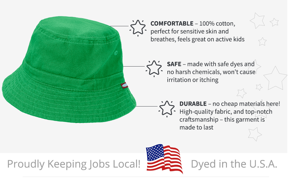 d516f524bc6 Amazon.com  City Threads Bucket Hat for Boys and Girls Sun ...