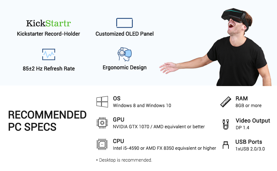 virtual reality headset for pc