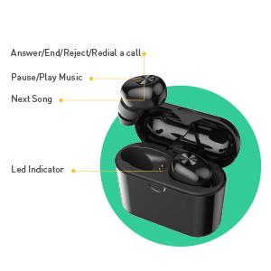 Bluetooth wireless earbuds tws headset earphone headphone true wiless earbuds sport earbuds running
