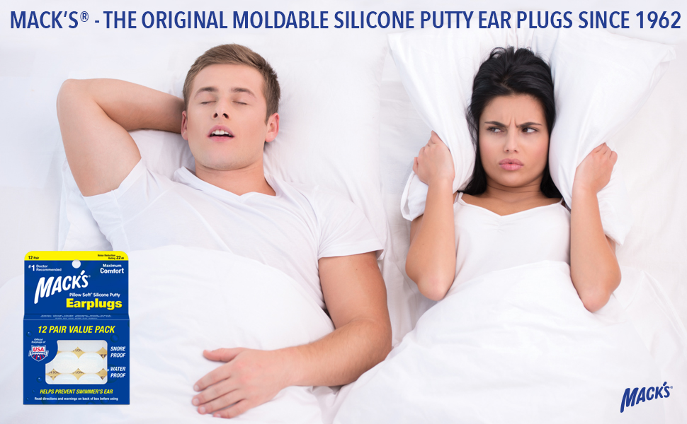 Ear Plugs for Sleeping, Ear Plugs for Swimming, Macks Earplugs, Silicone Ear Plugs, Ear Plugs