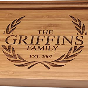 bamboo custom laser engraved serving tray bamboomn customized personalized