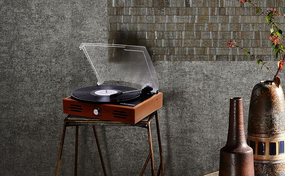 Amazon.com: Musitrend tocadiscos estéreo pequeñ ...