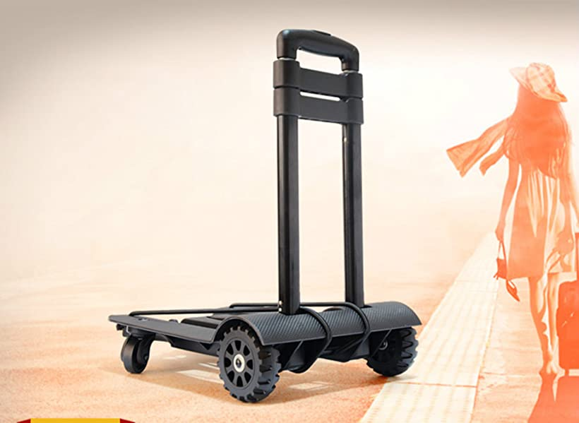 Amazon Com Folding Hand Truck 70 Kg 155 Lbs Heavy Duty