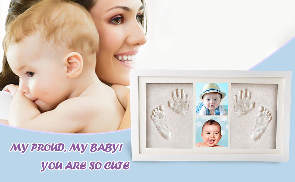 100/% ORGANIC Baby Handprint Kit /(WHITE/) | SAFE, NO MOLD| Baby ...