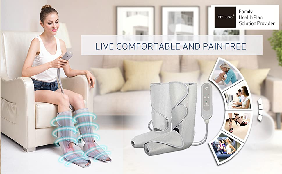 FIT KING Leg & Foot Massager for Circulation