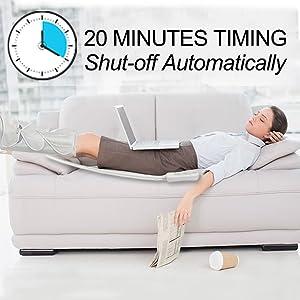 20 MINUTE TIMING LEG MASSAGER
