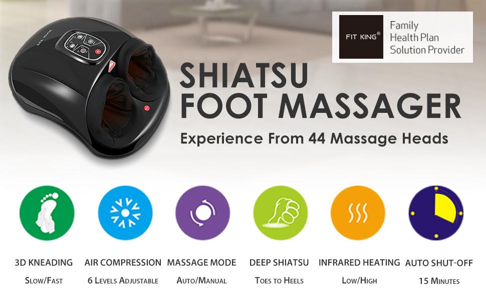 FIT KING Shiatsu Foot Massager Machine with Heat
