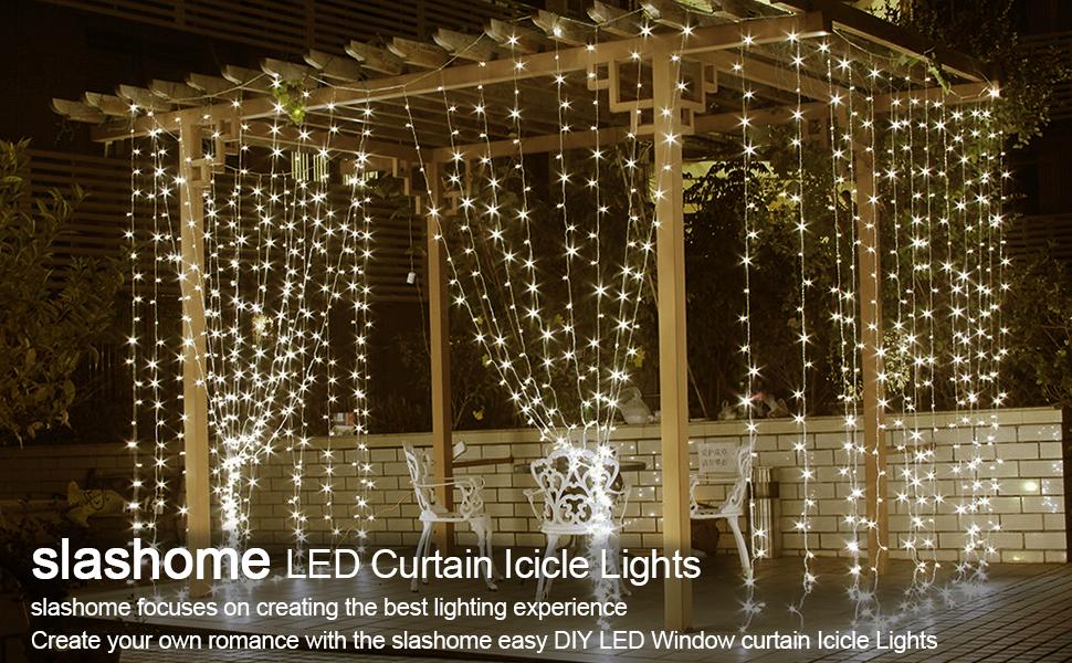 Light Color Warm White Length 195ft Drops98ft Led Quantity 600pcs Of Leds Each String 25pcs Curtain