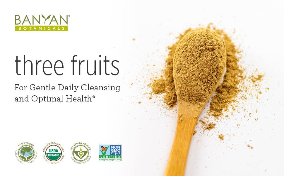 Banyan Botanicals Organic Triphala Powder - 1/2 Pound - USDA Organic -  Balancing Formula for