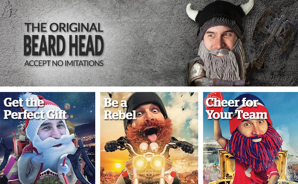 07f24243c9b1f Amazon.com  Beard Head Tailgate Series Stubble Beanie w Beard Hat ...